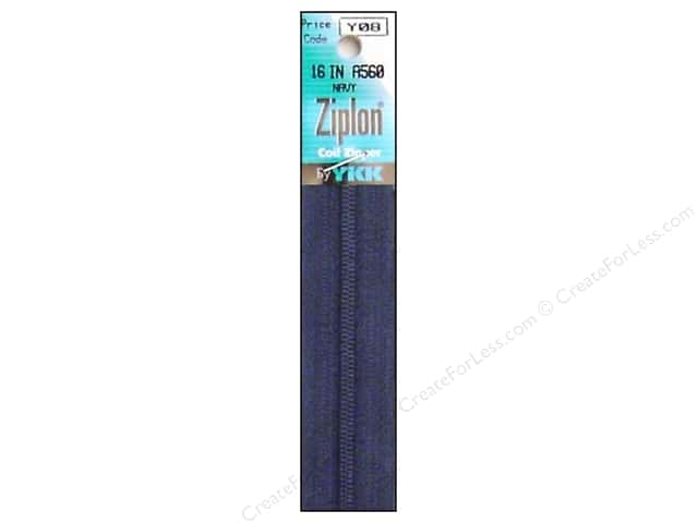 YKK Ziplon Coil Zipper 16 in. Navy