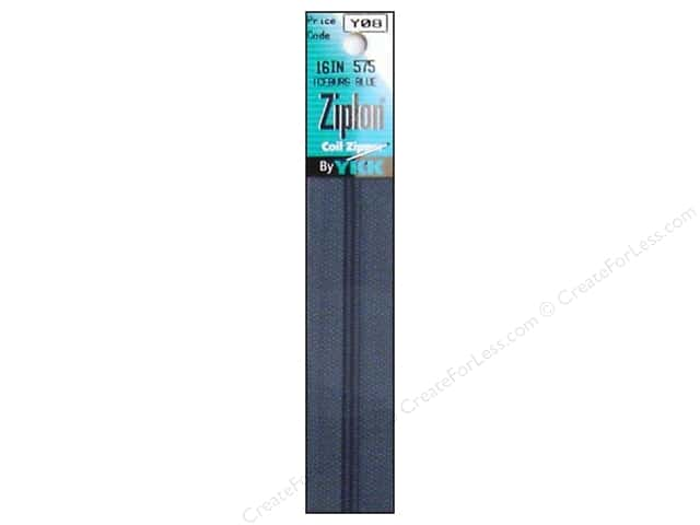 YKK Ziplon Coil Zipper 16 in. Blue