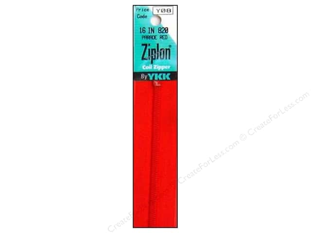 YKK Ziplon Coil Zipper 16 in. Parade Red