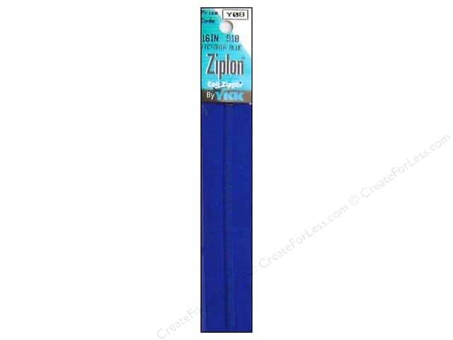 YKK Ziplon Coil Zipper 16 in. Victoria Blue