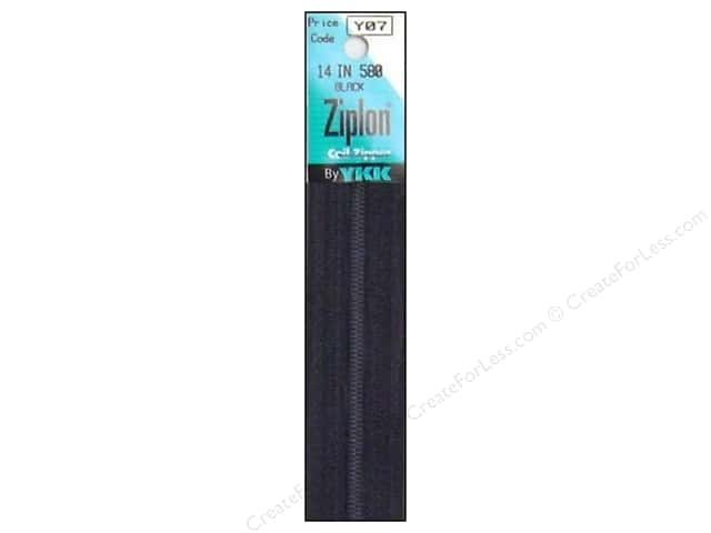 YKK Ziplon Coil Zipper 14 in. Black
