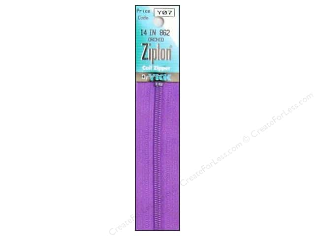 YKK Ziplon Coil Zipper 14 in. Orchid