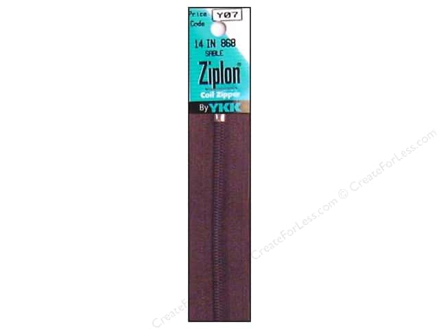 YKK Ziplon Coil Zipper 14 in. Sable