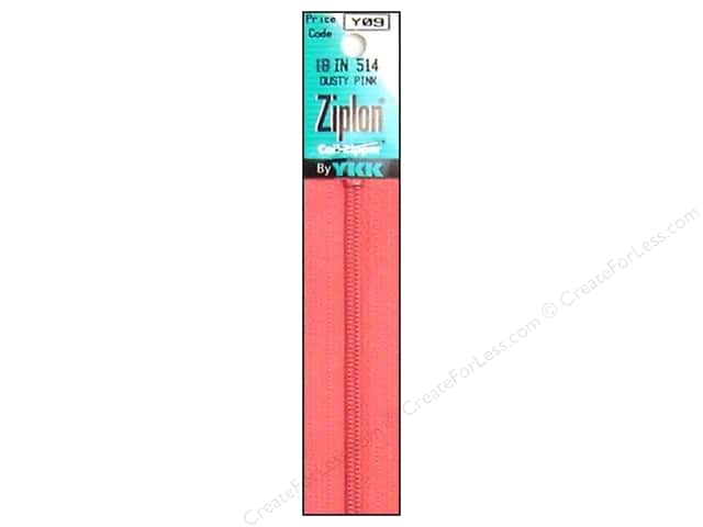 YKK Ziplon Coil Zipper 18 in. Dusty Pink