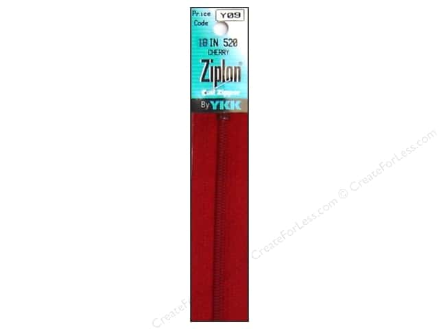 YKK Ziplon Coil Zipper 18 in. Cherry