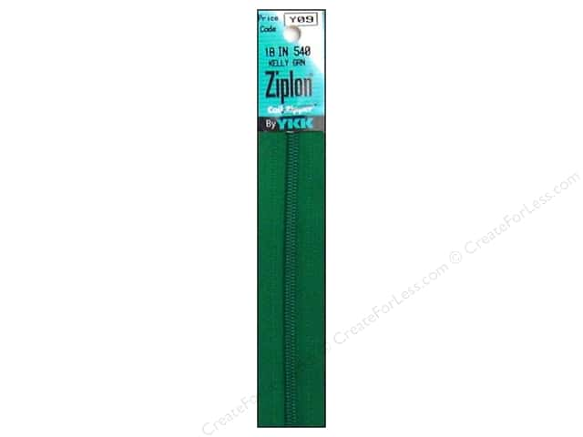YKK Ziplon Coil Zipper 18 in. Kelly Green