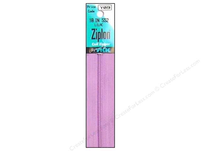 YKK Ziplon Coil Zipper 18 in. Lilac