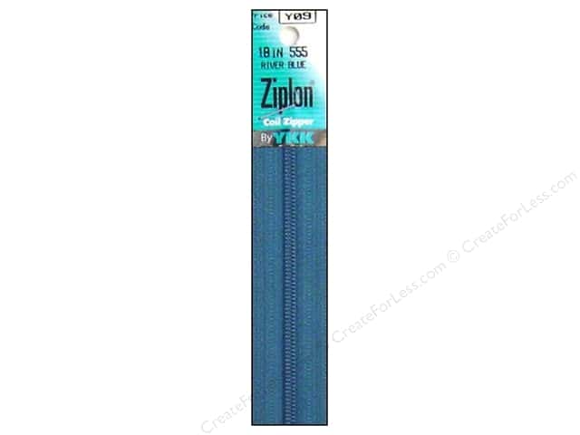 YKK Ziplon Coil Zipper 18 in. River Blue