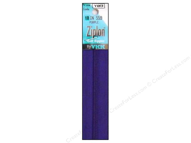 YKK Ziplon Coil Zipper 18 in. Purple
