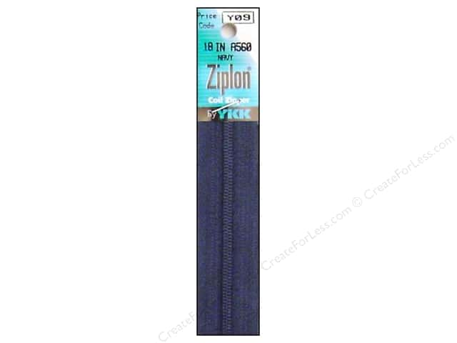YKK Ziplon Coil Zipper 18 in. Navy