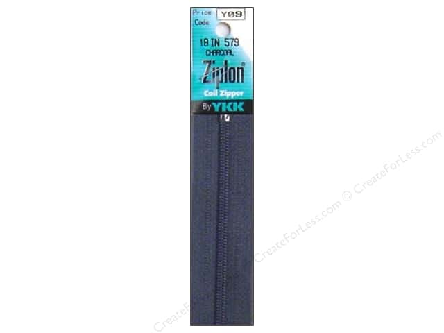 YKK Ziplon Coil Zipper 18 in. Charcoal