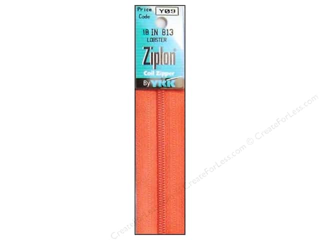YKK Ziplon Coil Zipper 18 in. Lobster