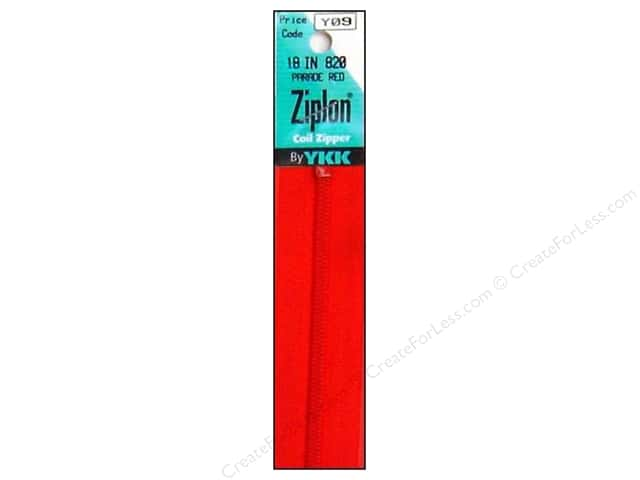 YKK Ziplon Coil Zipper 18 in. Parade Red