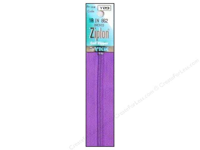 YKK Ziplon Coil Zipper 18 in. Orchid