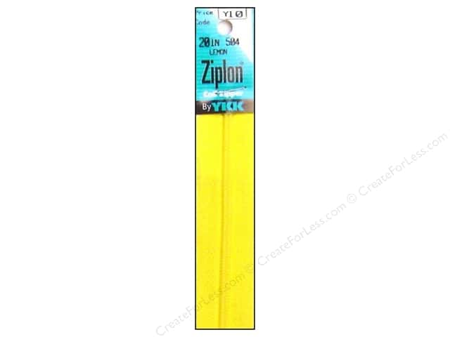 YKK Ziplon Coil Zipper 20 in. Lemon