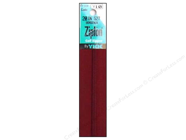 YKK Ziplon Coil Zipper 20 in. Bordeaux