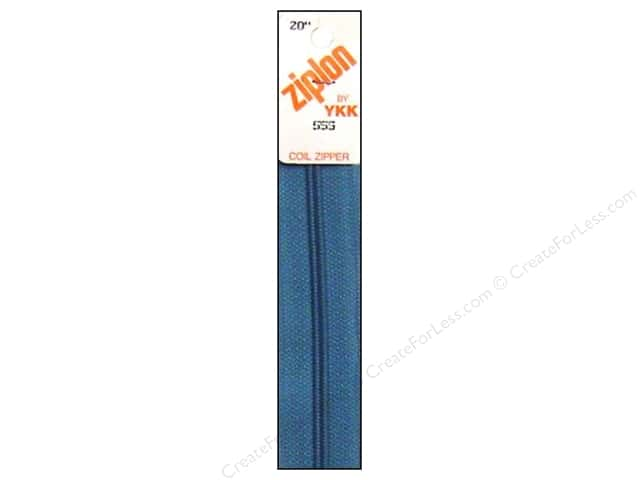 YKK Ziplon Coil Zipper 20 in. River Blue