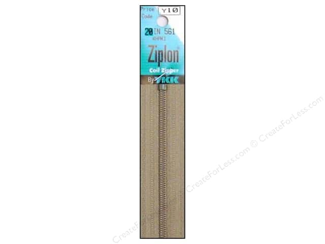 YKK Ziplon Coil Zipper 20 in. Khaki