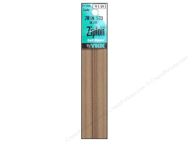 YKK Ziplon Coil Zipper 20 in. Beige