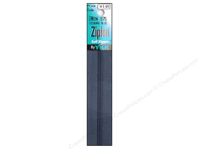 YKK Ziplon Coil Zipper 20 in. Iceburg Blue