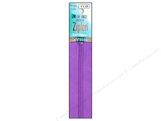 YKK Ziplon Coil Zipper 20 in. Orchid