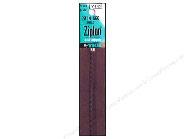 YKK Ziplon Coil Zipper 20 in. Sable