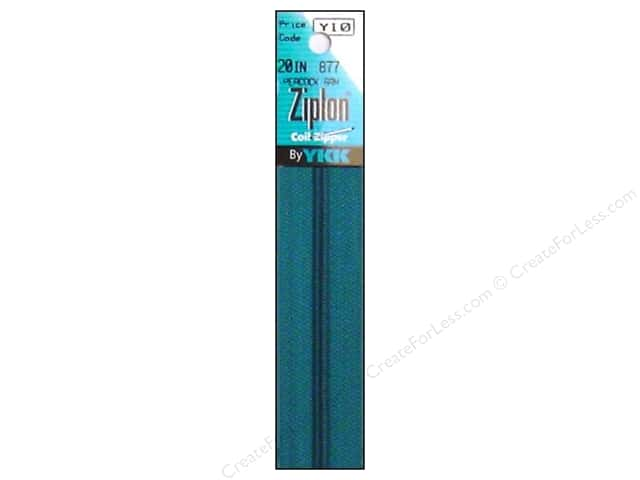 YKK Ziplon Coil Zipper 20 in. Peacock