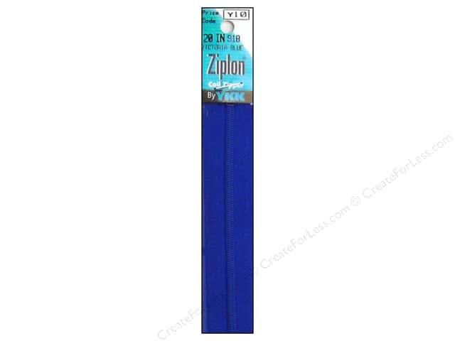 YKK Ziplon Coil Zipper 20 in. Victoria Blue
