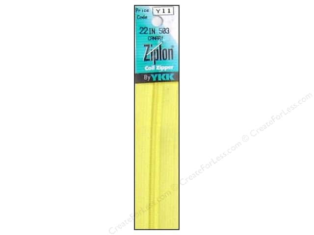 YKK Ziplon Coil Zipper 22 in. Canary
