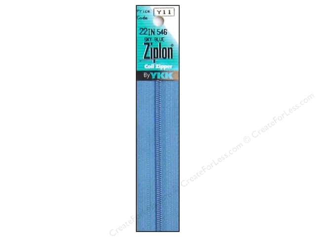 YKK Ziplon Coil Zipper 22 in. Sky Blue
