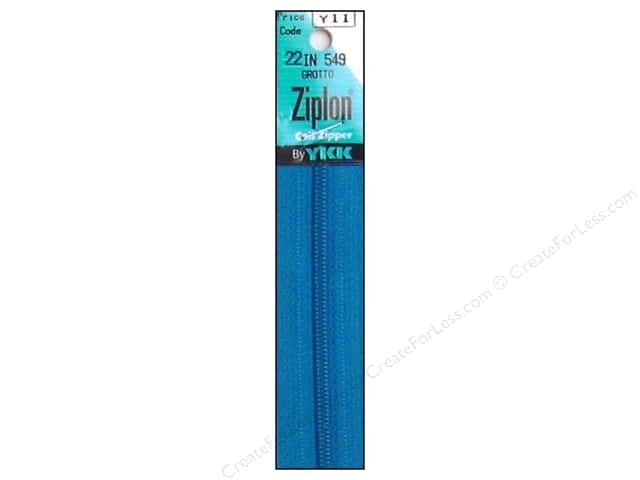 YKK Ziplon Coil Zipper 22 in. Grotto