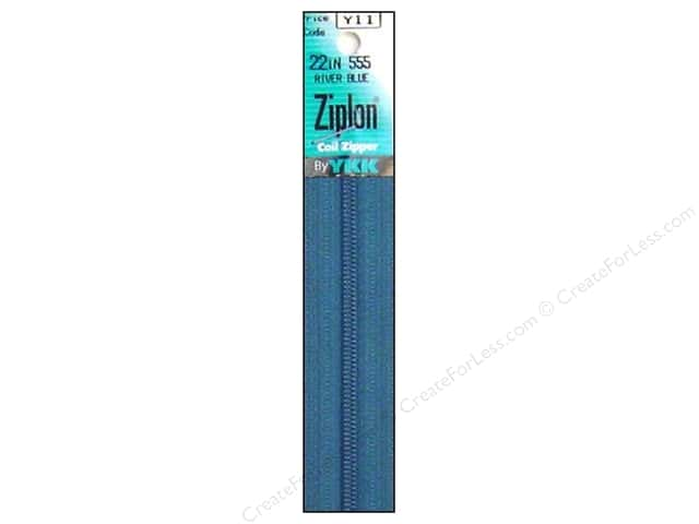 YKK Ziplon Coil Zipper 22 in. River Blue