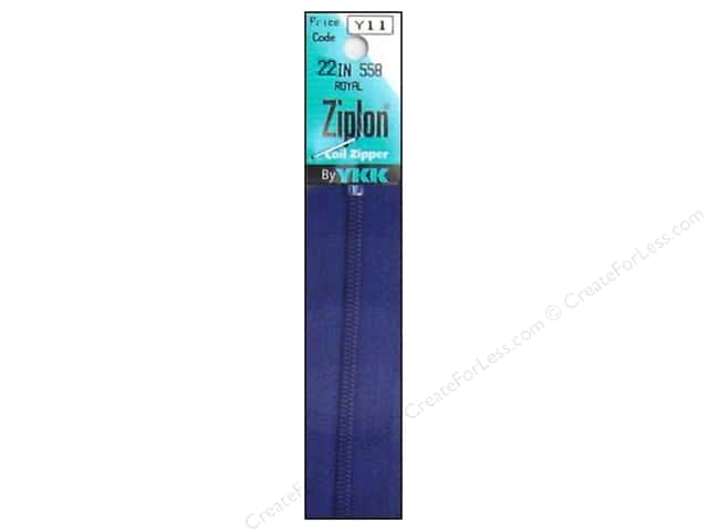 YKK Ziplon Coil Zipper 22 in. Royal