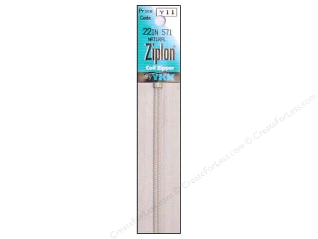 YKK Ziplon Coil Zipper 22 in. Natural
