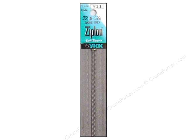 YKK Ziplon Coil Zipper 22 in. Smoke Grey