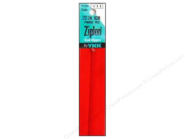 YKK Ziplon Coil Zipper 22 in. Parade Red
