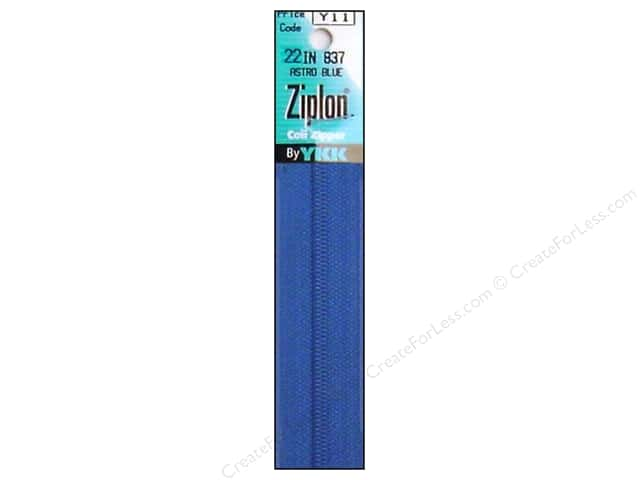YKK Ziplon Coil Zipper 22 in. Astro Blue