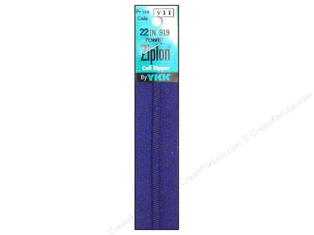 YKK Ziplon Coil Zipper 22 in. Pennant Blue