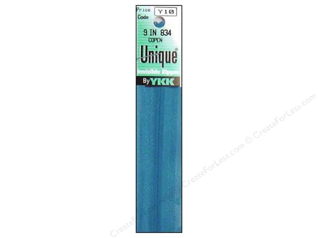 YKK Unique Invisible Zipper 9 in. Copen