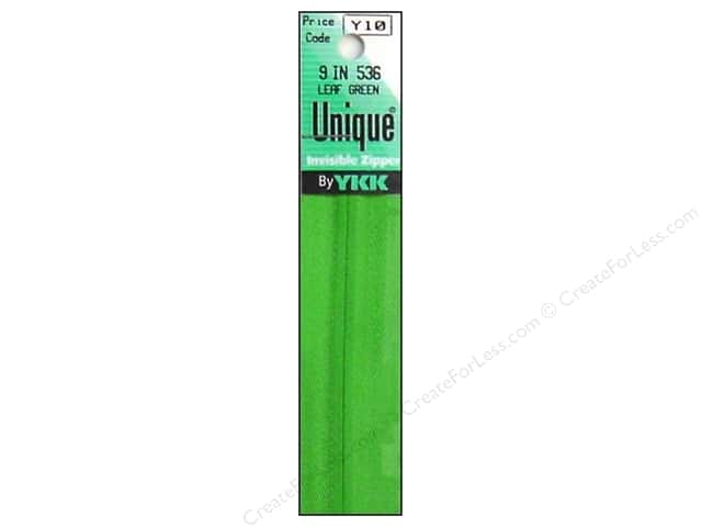 YKK Unique Invisible Zipper 9 in. Leaf Green