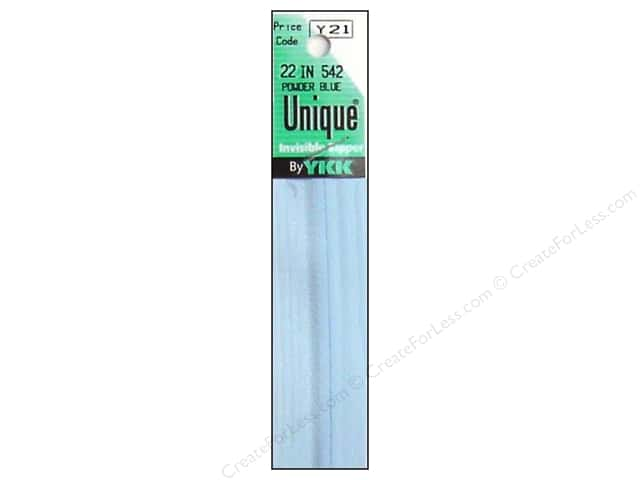 YKK Unique Invisible Zipper 22 in. Powder Blue