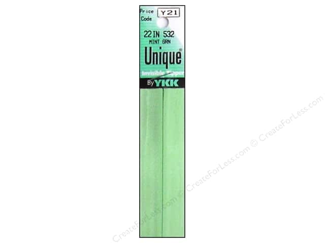 YKK Unique Invisible Zipper 22 in. Mint