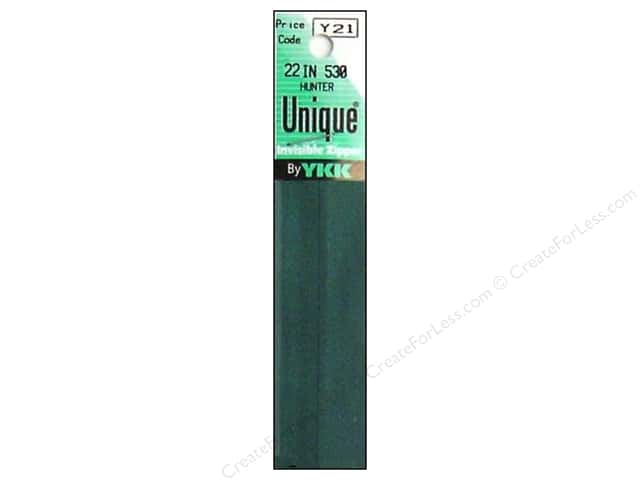 YKK Unique Invisible Zipper 22 in. Hunter Green