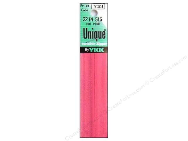YKK Unique Invisible Zipper 22 in. Hot Pink