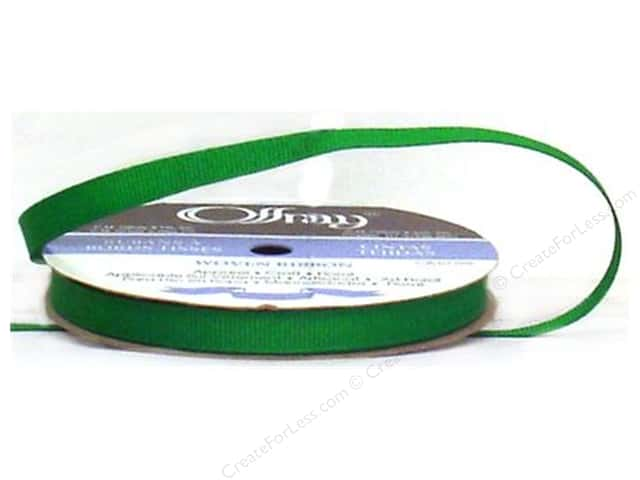 Offray Grosgrain Ribbon 3/8 in. x 20 yd. Emerald (20 yards)