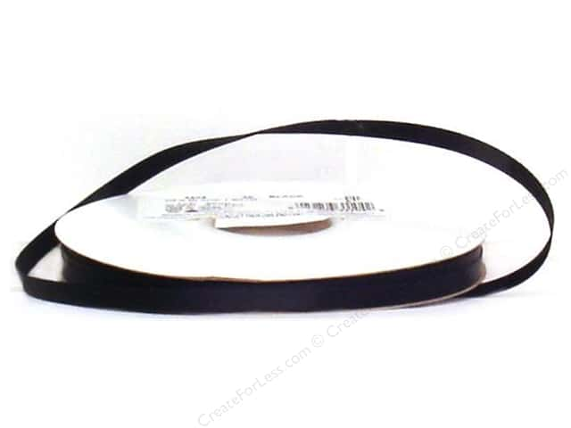 Offray Grosgrain Ribbon 1/4 in. x 20 yd. Black (20 yards)