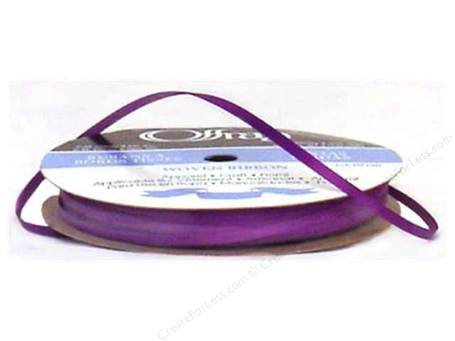 Offray Double Face Satin Ribbon 1/8 in. x 30 yd. Purple