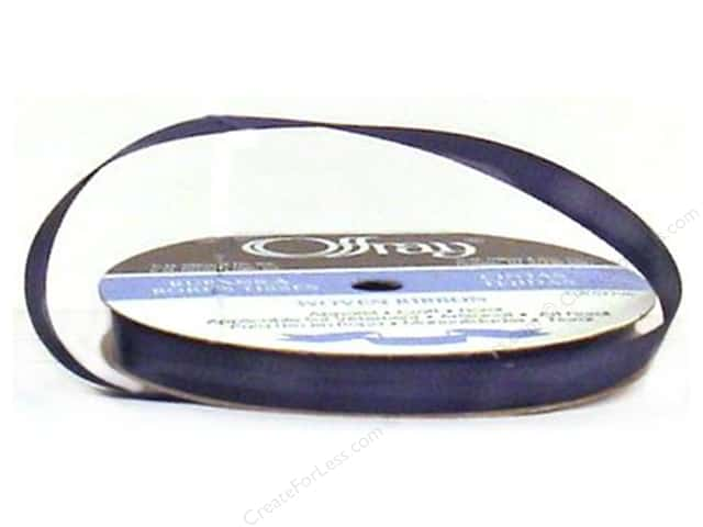 Offray Single Face Satin Ribbon 3/8 in. x 20 yd. Navy