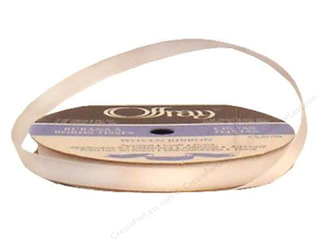 Offray Single Face Satin Ribbon 3/8 in. x 20 yd. White (20 yards)