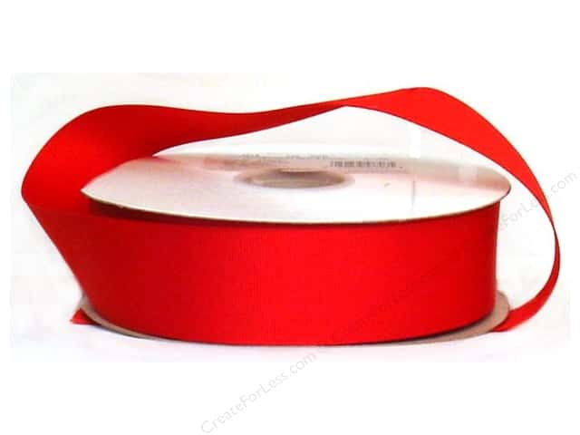 Offray Single Face Satin Ribbon 1 1/2 in. x 10 yd. Red (10 yards)